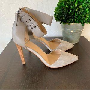 Joe's Grey Suede Leather Heels size 8